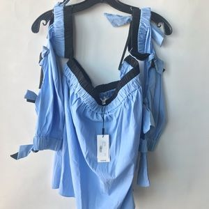 Tops - NWT Milly Large Blue Top